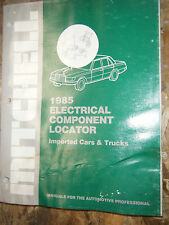 1985 Mitchell Electrical Component Locator Manual Bmw Jaguar Volvo Alfa Romeo