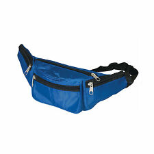 2 Blue Fanny Pack Bum Bags Festival Waist Pouch Travel Sport Holiday Money Belt