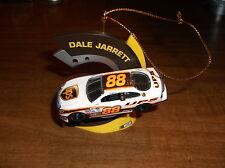 NASCAR CHRISTMAS TREE ORNAMENT #88 DALE JARRETT 1:64 SCALE RACE CAR