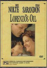 LORENZO'S OIL - SUSAN SARANDON - NICK NOLTE - PETER USTINOV -  DVD - NEW