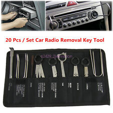 Stainless steel 20 Pcs Car CD Radio Stereo CD Head Unit Removal Release Key Kit