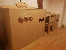batman cabinet side board super hero bespoke wooden children's chair desk