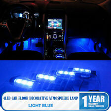 12V Led Blu Neon Luci Lampadine per Auto Interno Decorazione Accendisigari nuovo