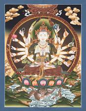 Billiger Preis Kalachakra Thangka Aus Mongolei Handbemalter Wandbehang Mongolisches Wandbil Asiatika: Indien & Himalaya Dekoration