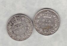 1907 & 1910 EDWARD VII SIXPENCES IN FINE OR BETTER CONDITION