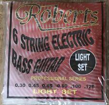 Conjunto de ROBERTS 6 Cuerdas Bajo Eléctrico Guitarra Cuerdas/30-125 redondo herida