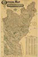 Map of Trinity County, California; Antique Map, 1894