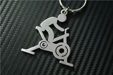 SPIN CLASS MACHINE Keyring keyfob Schlüsselring porte-clés GYM FREAK FIT BIKE