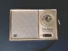 Vintage Waltham WA5102L 10 Transistor Radio Leather - Works & Looks Great