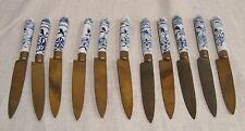 Set of 11 Meissen Blue Onion Fruit Knives