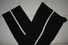 VERY GOOD QUALITY - 10 - BLACK / WHITE TRIM 2 PC PANTS SUIT - MADE IN CANADA