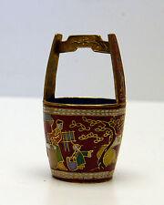 Vintage Cloisonne Water Bucket Mini Unusual Piece!