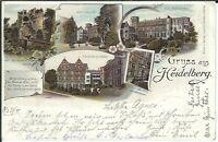 Ansichtskarte Heidelberg Schlosshof, Heinrichsbau, Friedrichsbau, Portal am Otto