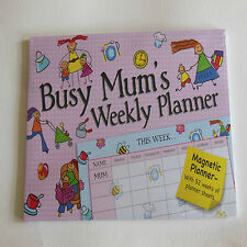 Busy Mum's Weekly Planner with Magnetic Fridge Mounting. Gifted Stationery