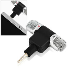 3.5mm Jack Mini External Microphone Mic Stereo Recorder For Samrt Cell Phones