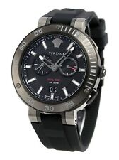 VERSACE V Extreme Pro Black Dial Dual Time Sport Watch NIB Mens