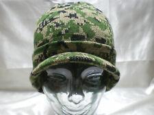 Woodland Digital Camo Camouflage Warm Winter Beanie With Brim Hat Hats Cap Caps
