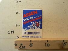 STICKER,DECAL ASSEN IJSSPEEDWAY HALVE FINALE 86 HOLLAND ICERACE A
