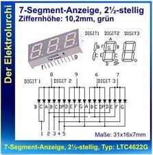2½-stellige 7-Segment Anzeige, grün, Typ:LTC4622G,10,2mm, gem.Anode LiteON NEU