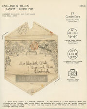 MULREADY ENVELOPE ONE PENNY BLACK PLATE A155 ON PRESENTATION PAGE WL3877A GPC17C