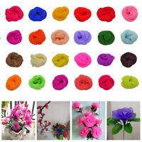 5x Mehrfarbig Silk Strumpf Blume Material Erweiterbar Künstlich Flower Handmade