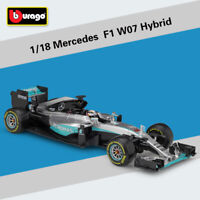 Bburago 2016 1:18 Mercedes F1 W07 Hybrid 44# Lewis Hamilton Racing Diecast Model