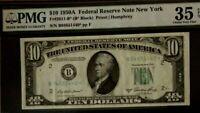 1950A $10 PMG35 EPQ CHOICE VERY FINE, FEDERAL RESERVE * (STAR) ^ NOTE, NEW YORK