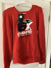 New England Patriots Championship Woman's Size Small Red Hoodie Sweatshirt