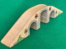 BRIO THREE ARCH ROAD BRIDGE for THOMAS & Friends Wooden Railway TRAIN ENGINE set