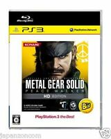 Used PS3 Metal Gear Solid: Peace Walker SONY PLAYSTATION 3 JAPAN JAPANESE IMPORT