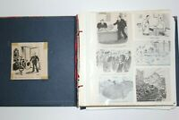 VTG Cartoon Clippings from New Yorker Mag & Papers Total Book 1: Over 1,400
