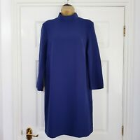 & Other Stories Tunic Dress 38 UK 12 Womens Navy High Neck 3/4 Sleeve Pockets