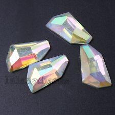50x New Irregular Shape Resin AB Colorful Flatbacks Stick-on Embellishments LC