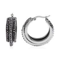 Hematite Stylish Hoops Hoop Earrings Fashion Mothers Day Gift Jewelry For Women