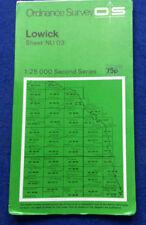 Ordnance Survey 1:25000 Second Series cloth map Lowick Sheet NU 03 1977