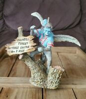 Rare Michael Roche Signed Sculpture The Wizard of Oz Flying Monkey 1990 Vintage