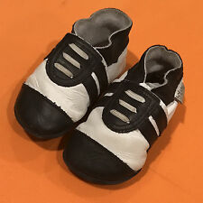 Original Bobux Baby Infant Soft Leather Navy & White Sport Shoes Size 6-12M