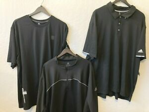 NEW Adidas sport 100% polyester polo t-shirt Tee jacket Golf windbreaker shorts
