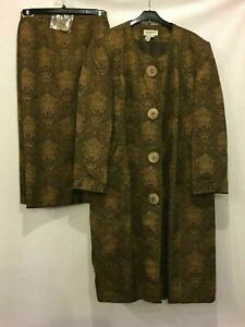 Nubiano Skirt Suit Lined Jacket Maxi Skirt Set Womens 28W