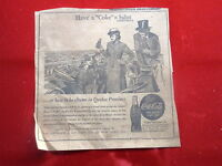 Coca-Cola Baseball Newspaper Ad 1943 Have Coke = Salut how to be chums Quebec B8