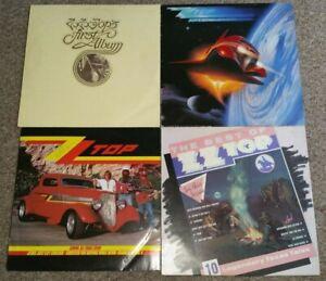 ZZ Top Vinyl LP collection.