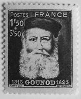 TIMBRE FRANCE NEUF N°601 SÉPIA COMPOSITEUR CHARLES GOUNOD - STAMP
