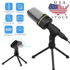3.5mm Condenser Microphone Mini Tripod Stand Recording Studio Sound For PC/Phone