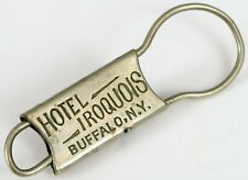 ANTIQUE HOTEL IRIQUOIS BUFFALO NY ROOM KEY RING FOB PAT 1908 MASONIC SHRINER !