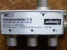 ☼☼☼3fach Antennen Kabel Radio TV Verteiler Weiche silber KVB-aus Nachlass-privat