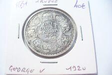 MONNAIE  ARGENT  INDE BRITANNIQUE - 1 RUPEE 1920     -  A VOIR