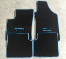 Autoteppich Fußmatten für Fiat 500 ab 2007' schwarz hellblau 4teilig Neuware