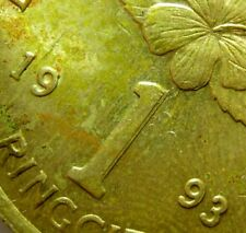 1993 Keris/Bunga Raya 1 Ringgit Coin - Doubling Error - #D74