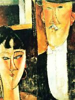 AMEDEO MODIGLIANI BRIDE GROOM OLD MASTER ART PAINTING PRINT POSTER 141OMA