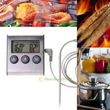 Digital BBQ Food Thermometer Probe Timer Meter Cooking Kitchen Oven Grill Meat